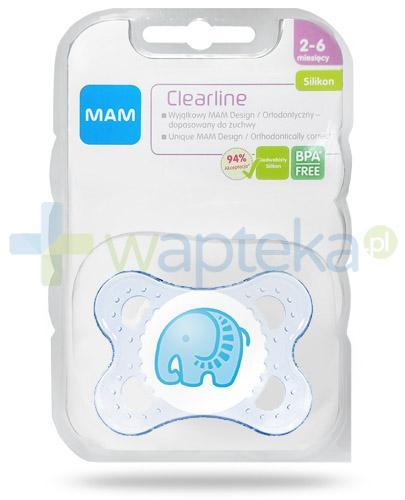 MAM Clearline smoczek silikonowy 2-6m+ ortodontyczny 1 sztuka [27587]