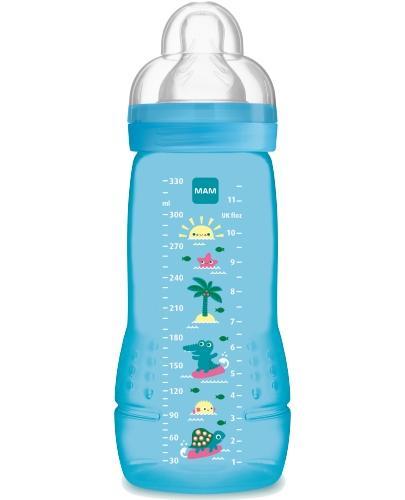 MAM Easy Active butelka 4m+ 330 ml ze smoczkiem przepływ 3 szybki 1 sztuka [25514]