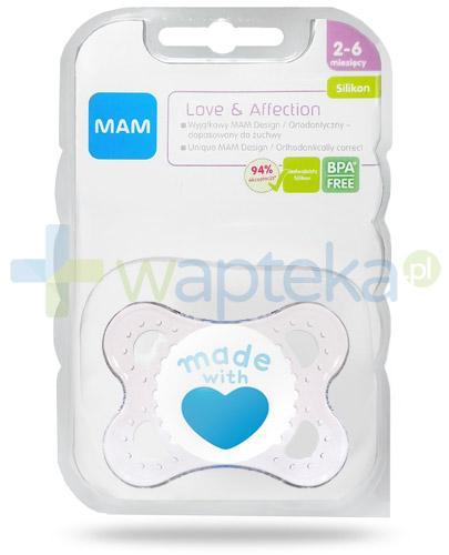 MAM Love & Affection smoczek silikonowy 2-6m+ ortodontyczny 1 sztuka [27581]