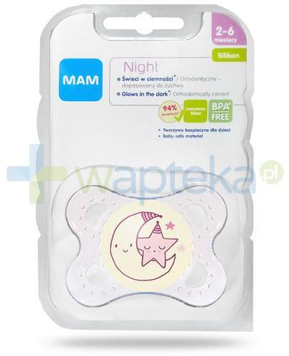 MAM Night smoczek silikonowy 2-6m+ świeci w ciemności 1 sztuka [25525]