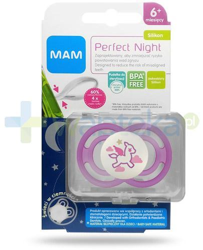 MAM Perfect Night smoczek silikonowy 6m+ świeci w ciemności 1 sztuka [25517]