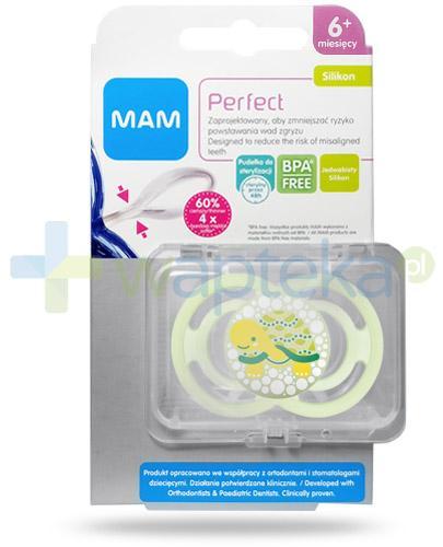 MAM Perfect smoczek silikonowy 6m+ 1 sztuka [27579]