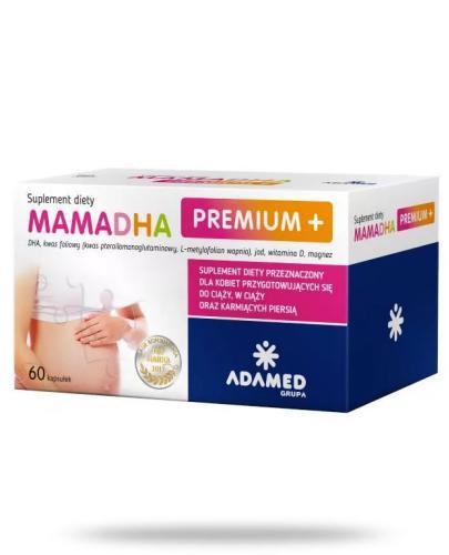 MamaDHA Premium Plus+ 60 kapsułek