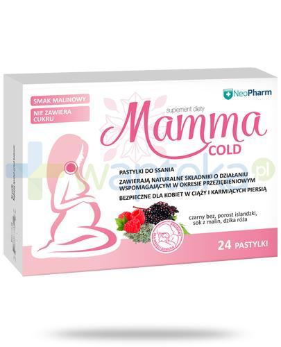 NeoPharm Mamma Cold pastylki do ssania o smaku malinowym 24 sztuki