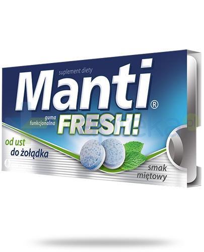 Manti Fresh guma funkcjonalna o smaku miętowym 10 sztuk