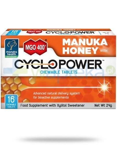 Manuka Health MGO 400+ Cyclopower miód manuka do ssania 16 sztuk