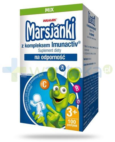 Marsjanki Imunactiv Mix na odporność dla dzieci 3+, pastylki do ssania 100 sztuk