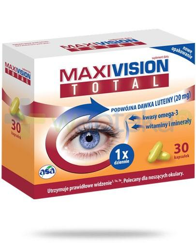 Maxivision Total luteina 20mg i witaminy 30 kapsułek