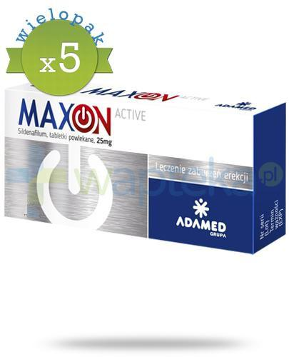 MaxOn Active (Sildenafil 25 mg) lek na potencję 2 tabletki x5 [WIELOPAK]