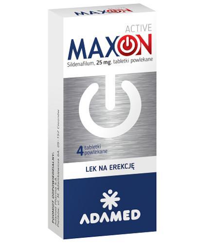 DZIEŃ OJCA MaxOn Active (Sildenafil 25 mg) lek na potencję 4 tabletki