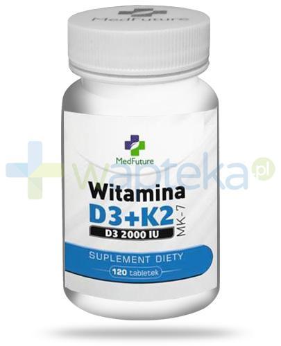 MedFuture witamina D3 2000UI + K2 MK-7 120 tabletek