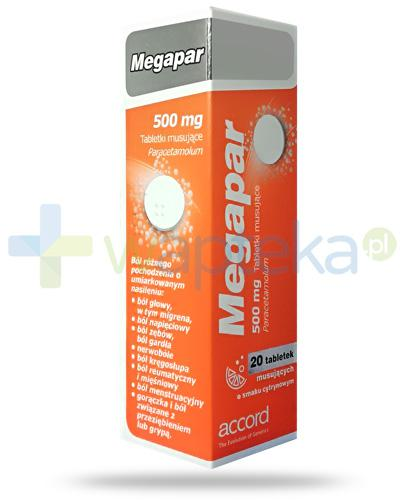 871c90a6d86 Megapar 500mg smak cytrynowy 20 tabletek musujących   Wapteka.pl