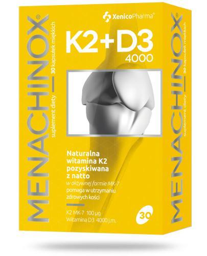 Menachinox K2 + D3 4000 witamina K2 30 kapsułek Xenico