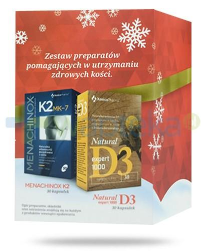 Menachinox K2 MK-7 witamina K2 pozyskiwana z natto 30 kapsułek + Natural D3 Expert 1000 witamina D 30 kapsułek