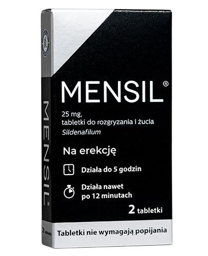 Mensil (Sildenafil 25mg) lek na erekcję 2 tabletki