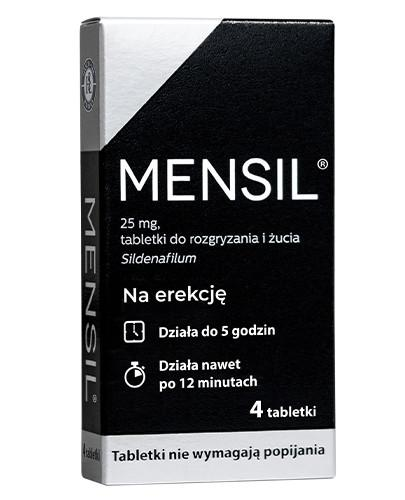 Mensil (Sildenafil 25mg) lek na erekcję 4 tabletki