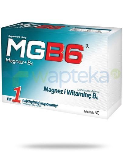 MgB6 magnez i witamina B6 50 tabletek