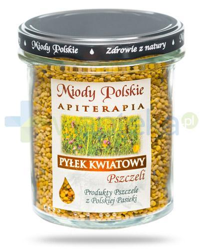 Miody Polskie miód naturalny pyłek kwiatowy pszczeli 200 g