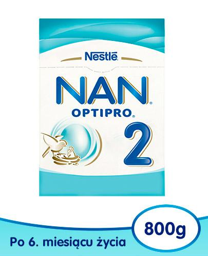 NESTLE NAN OPTIPRO 2 Mleko modyfikowane w proszku dla niemowląt powyżej 6 miesiąca 800 g