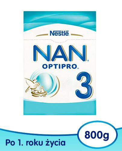 NESTLE NAN OPTIPRO 3 Mleko modyfikowane w proszku dla dzieci po 1 roku 800 g