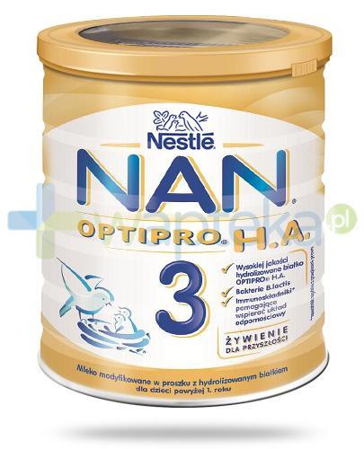 NESTLE NAN OPTIPRO HA 3 Mleko modyfikowane w proszku dla dzieci powyżej 1 roku 400 g
