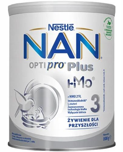 NESTLE NAN OPTIPRO Plus 3 Mleko modyfikowane w proszku dla dzieci po 1 roku 800 g