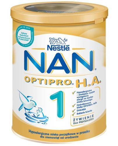 Mleko Nestlé NAN OPTIPRO H.A. 1 Hypoalergiczne mleko początkowe w proszku dla niemowląt od urodzenia 400 g
