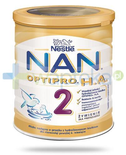 Mleko Nestlé NAN OPTIPRO H.A. 2 Mleko modyfikowane w proszku dla niemowląt powyżej 6 miesiąca 400 g