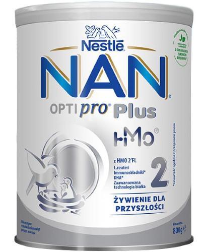 Mleko Nestlé NAN OPTIPRO Plus 2 HM-0 Mleko modyfikowane w proszku dla niemowląt powyżej 6 miesiąca 6x 800 g [WIELOPAK] + czapka z chustką [GRATIS]