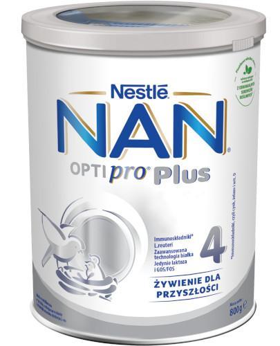 Mleko Nestlé NAN OPTIPRO Plus 4 Mleko modyfikowane w proszku dla dzieci po 2 roku 800 g