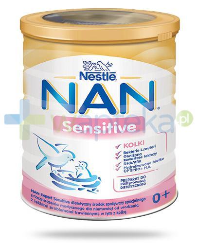 Mleko Nestlé NAN EXPERT Sensitive dla niemowląt z lekkimi problemami trawiennymi, w tym z kolką od urodzenia 400 g