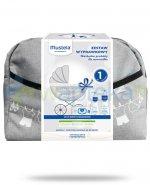 Mustela zestaw wyprawkowy dla noworodka + duża szara torba [ZESTAW]