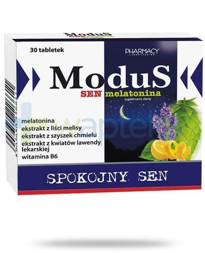 ModuS Spokojny sen melatonina 1mg 30 tabletek