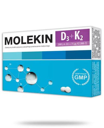 Molekin D3 + K2 30 tabletek powlekanych
