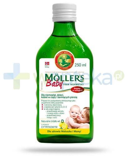 Mollers Baby Tran Norweski smak cytrynowy 250 ml