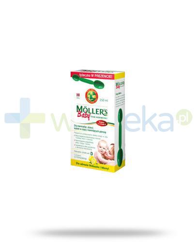 Mollers Baby Tran Norweski Omega-3 smak cytrynowy 250 ml + łyżeczka