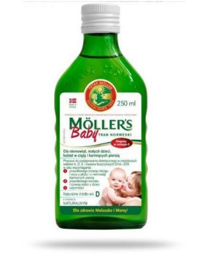 Mollers Baby Tran Norweski smak naturalny 250 ml