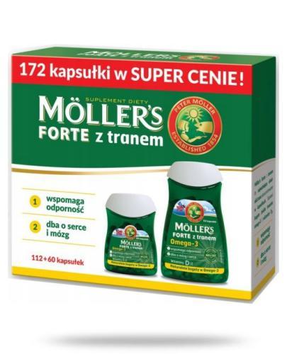 Mollers Forte z tranem Omega-3 112 kapsułek + Mollers Forte z tranem Omega-3 60 kapsułek [ZESTAW]