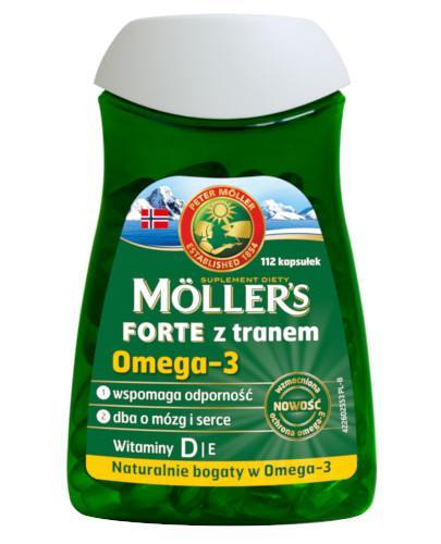 Mollers Forte z tranem Omega-3 112 kapsułek