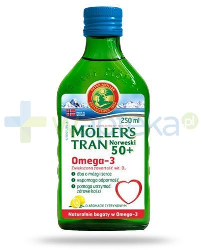 Mollers Tran Norweski 50+ Omega-3 smak cytrynowy 250 ml