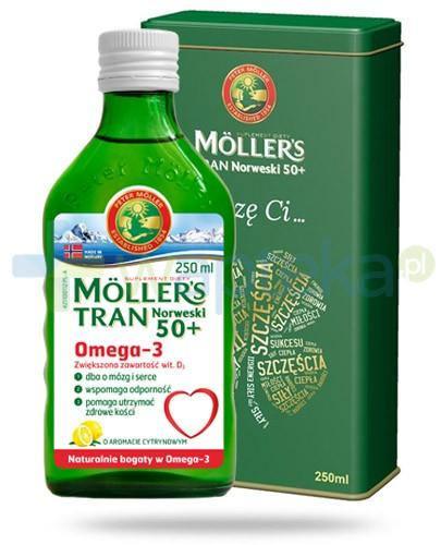 Mollers Tran Norweski 50+ w puszce smak cytrynowy 250 ml