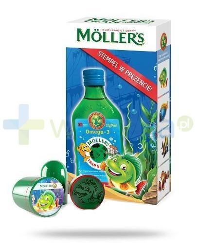 MOLLERS Tran norweski owocowy płyn 250ml + stempelek GRATIS