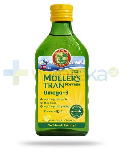 Mollers Tran Norweski Omega-3 smak cytrynowy 250 ml