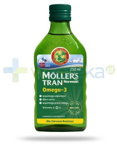 Mollers tran norweski smak naturalny 250 ml