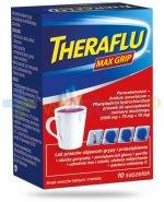 Theraflu Max Grip smak owoców leśnych i mentolu 10 saszetek na przeziębienie i grypę