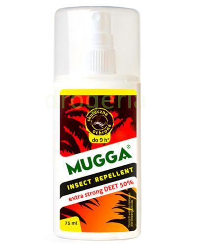 Mugga spray repelent z 50% DEET na komary tropikalne i moskity 75 ml