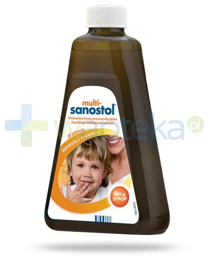 Multi Sanostol syrop witaminowy z wapniem dla dzieci powyżej 1 roku życia 600 g