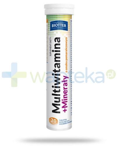 Multiwitamina + Minerały BIOTTER 20 tabletek musujących