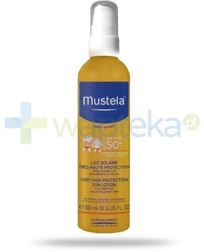 Mustela Bebe Enfant mleczko przeciwsłoneczne SPF50+ do skóry wrażliwej 300 ml
