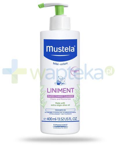 Mustela Bebe Enfant Liniment emulsja pod pieluszkę 400 ml + płatki kosmetyczne 30 sztuk [GRATIS]